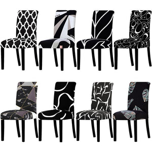 All Black Color Design Chair Cover Washable Removable Big Elastic Seat Covers Stretch Slipcovers Used For Banquet Hotel Home