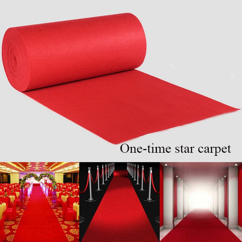 LGOLOL Brand 1-20m Red Wedding Banquet Celebration Carpet Film Festival Outdoor Event Reward Decoration Carpet Shipping Free