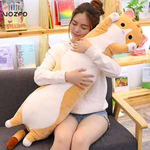 VOZRO 90 Cm Cute Cat Sleep Long Plush To Send Children Knee Pillow Almofada Coussin Overwatch Cojines Decorativos Cushion Emoji
