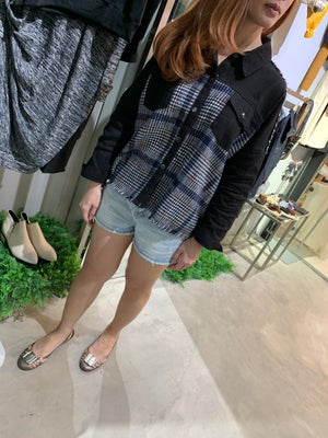 GARAZI Check Shirt Jacket