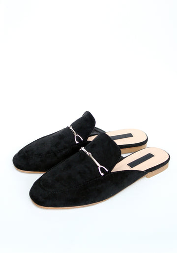 ADRIENN Mule Loafers - Black /BACKORDER/