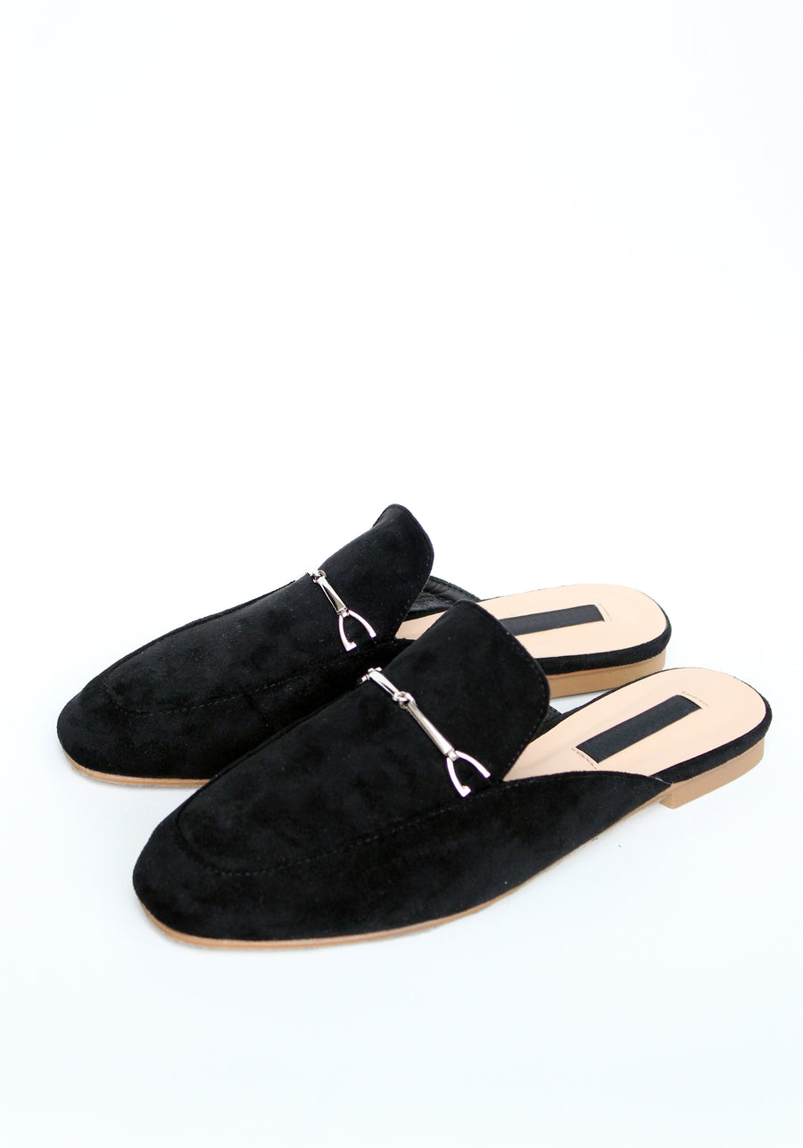 ADRIENN Mule Loafers - Black /BACK IN STOCK/