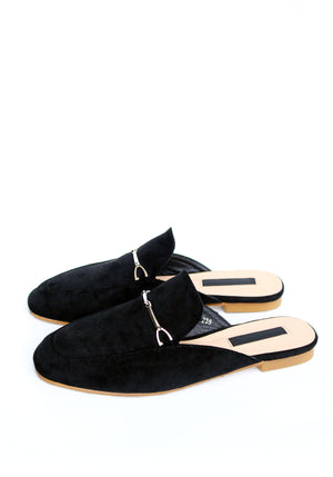 ADRIENN Mule Loafers - Black / Back In Stock