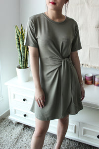 FAE Jersey Tie Wrap Dress - Sage