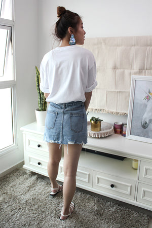 VUDOR Denim Utility Skirt
