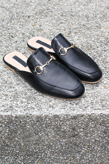 MADISON Horsebit Mule Loafers - Black