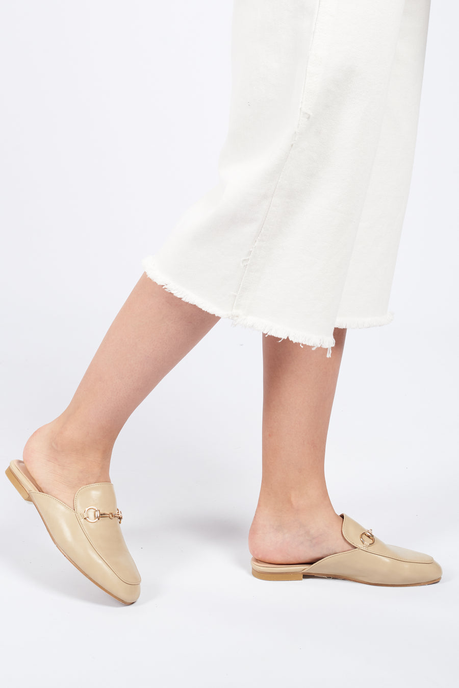 MADISON Horsebit Mule Loafers - Buttermilk