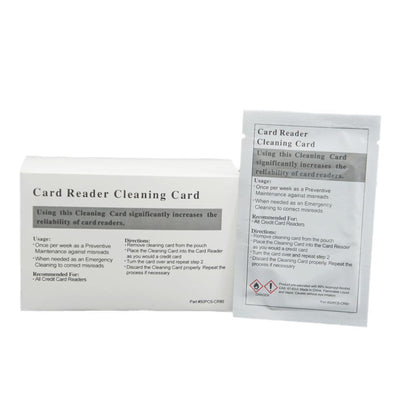 Credit Card Cleaning Cards Terminal Magnetic Head Swipe 99.9% IPA  50 cards