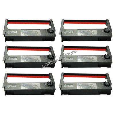6Pk Epson Ink Ribbon ERC-23 Black Red For Epson BR274 Verifone P250 P500