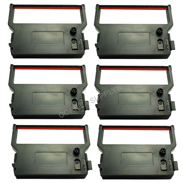 6Pk Verifone Ink Ribbon Black/Red For Verifone P-900 950 CRM0023BR