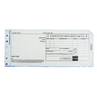 2500 2 Part Long Credit Card Imprinter Sales Slips, 25 of 100