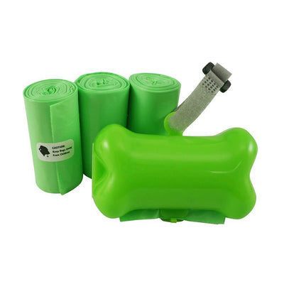 60 Green Pet Waste Bags with Green Dispenser, EPI Technology, 3 Rolls