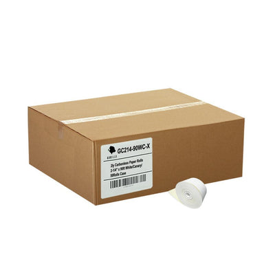 2-1/4 x 90' 2-Ply Carbonless Paper 50 Rolls White/Canary