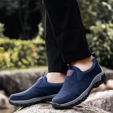 Load image into Gallery viewer, Men Suede Non Slip Waterproof Slip On Casual Hiking Sneakers - zonechics