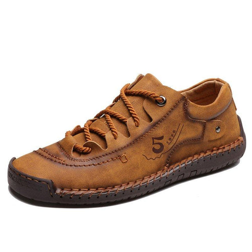 Men Microfiber Leather Hand Stitching Comfort Soft Casual Shoes - zonechics
