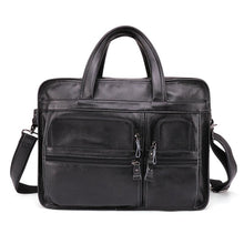 Load image into Gallery viewer, Men's Genuine Leather Large Capacity Crossbody Bag - zonechics