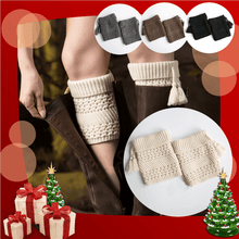 Load image into Gallery viewer, Women's Warm Knit Twill Tassel Headgear Socks - zonechics