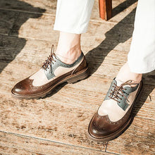 Load image into Gallery viewer, Men Carved Vintage British Style Handmade Baroque Leather Shoes - zonechics