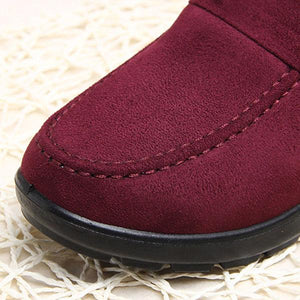 Women Plus Velvet Non-slip Causal Cotton Shoes - zonechics