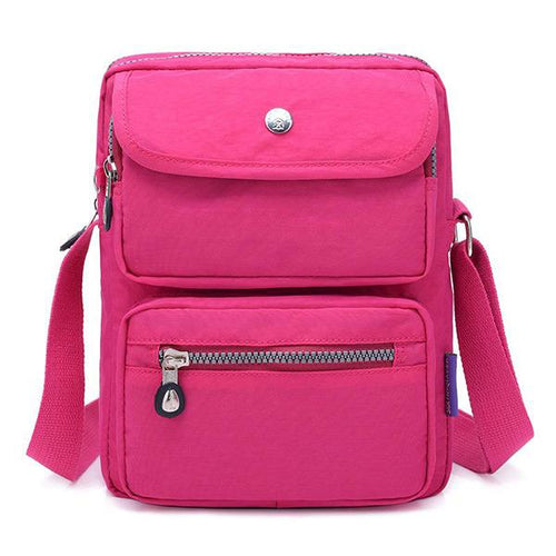 Multi-pocket Nylon Shoulder Bag - zonechics