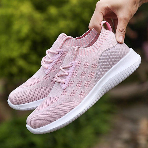 Womens Sneakers Super Breathable Lightweight Lace-Up Shoes - zonechics