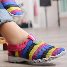 Load image into Gallery viewer, Womens Casual Sneakers With Colorful Striper Breathable Slip On Shoes - zonechics