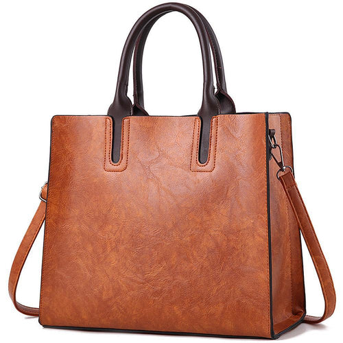 Top Handle Vintage Satchel Tote Bag - zonechics