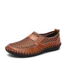 Load image into Gallery viewer, Men Wide Water Shoes Mesh Breathable Leather Beach Shoes - zonechics