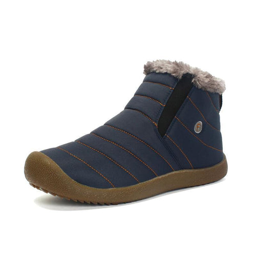 Men's Winter Thickening Faux Fur Lining Water-resistant Ankle Boots - zonechics