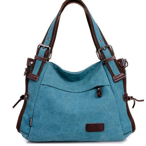 Women Canvas Casual Large Capacity Shoulder Bag - zonechics