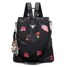 Load image into Gallery viewer, Womens Floral Backpacks Multifunctional Anti-theft Travel Shoulder Bag - zonechics