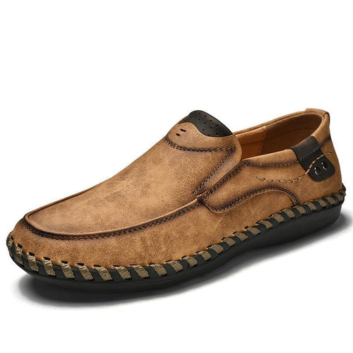 Men Leather Breathable Moccasins Loafers - zonechics