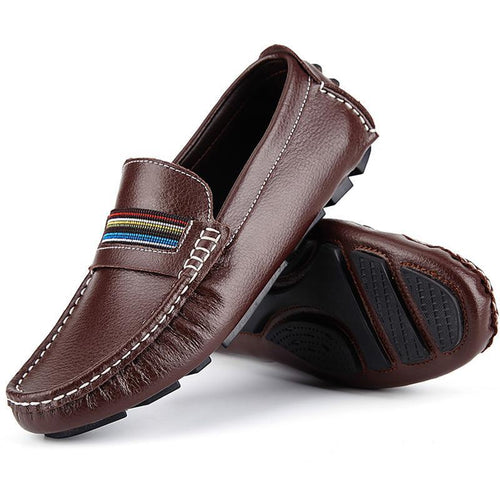 Men's Leather Soft Driving Casual Shoes - zonechics