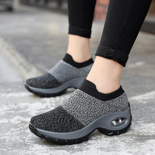 Women's Casual Sneakers With Air Breathable Sport Shoes - zonechics