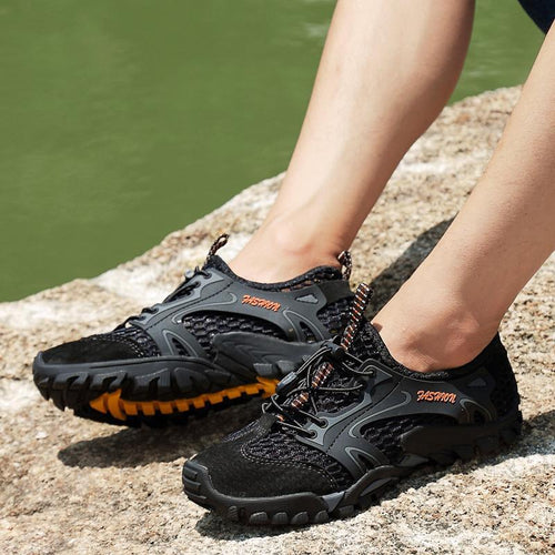 Large Size Men's Mesh Water Shoes Outdoor Hiking Shoes - zonechics