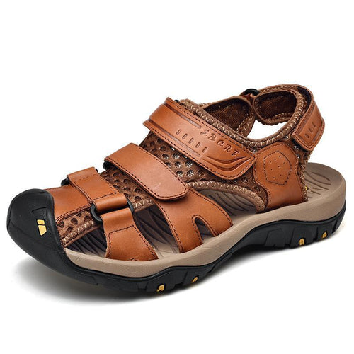 Mens Closed Toe Sandals Buckle Wear Casual Sandal Shoes - zonechics