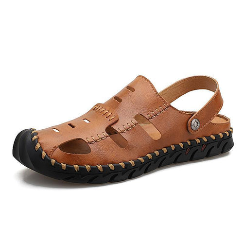 Mens Slide Sandals Lightweight With Closed Toe - zonechics