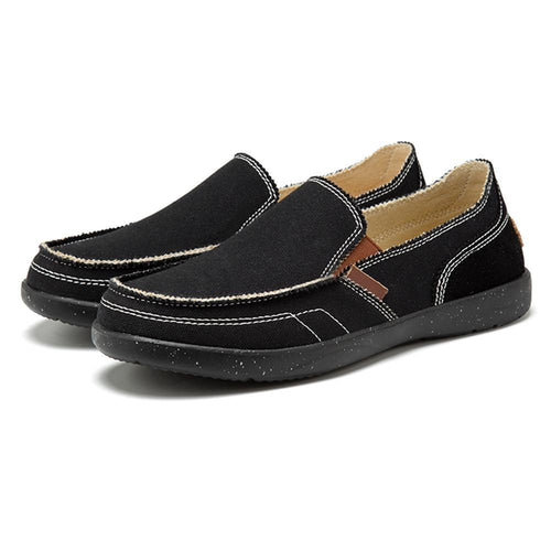 Men Cowhide Leather Comfy Flats - zonechics