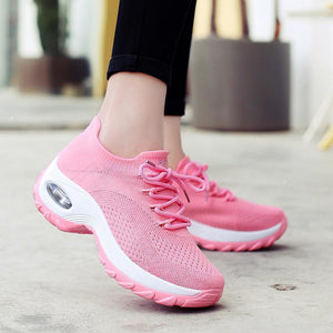 Women's Comfortable Sneakers Woven Anti-slip Athletic Shoes - zonechics