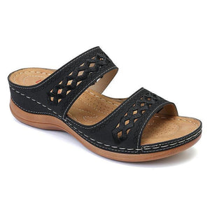 Women's Wedges Sandals Hook Loop Casual Beach Gladiator Sandals - zonechics