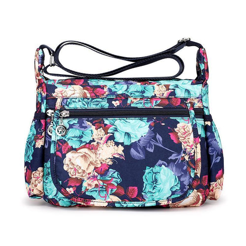 Floral Design Large Capacity Shoulder Bag - zonechics