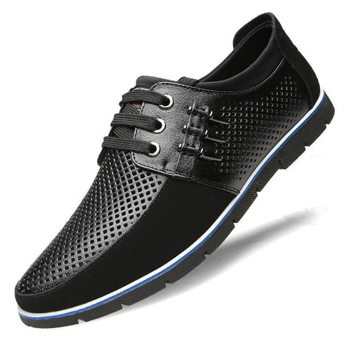 Men Summer Casual Breathable Genuine Leather Shoes - zonechics
