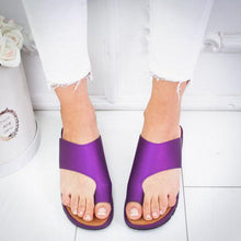 Load image into Gallery viewer, Fashion Women's Slide Sandals With Toe Ring Flat Sandals - zonechics