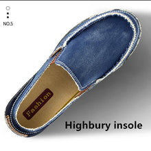 Load image into Gallery viewer, Men's Canvas Casual Shoes Slip-on Demin Loafers - zonechics