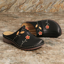 Load image into Gallery viewer, Womens Sandals Floral Stitching Comfort Clogs Flat Sandals - zonechics