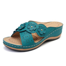 Load image into Gallery viewer, Women's Wedge Sandals With Flower Cross Hollow Sandal Slippers - zonechics