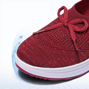 Women's Woven Casual Sneakers Breathable Mesh Walking Shoes - zonechics
