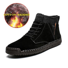 Load image into Gallery viewer, Men Hand Stitching Warm Plush Lining Portable Ankle Boots - zonechics