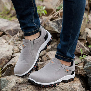 Men's Waterproof Sneakers Athletic Casual Slip-On Hiking Shoes - zonechics