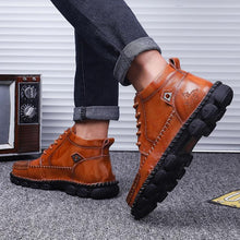 Load image into Gallery viewer, Men's Hand Stitching Pure Color Outdoor Ankle Boots - zonechics